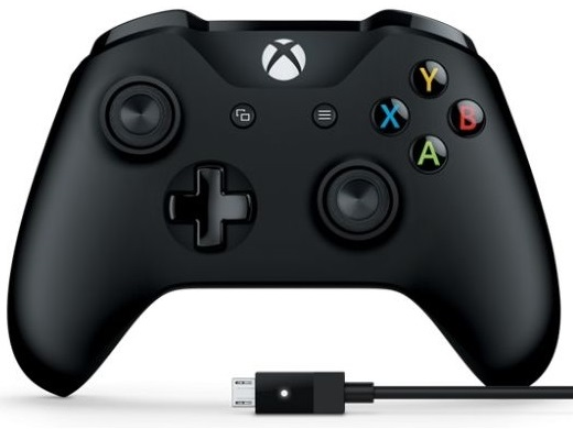 Xbox One S Wireless Controller (Black) + USB Windows (Оригинал)