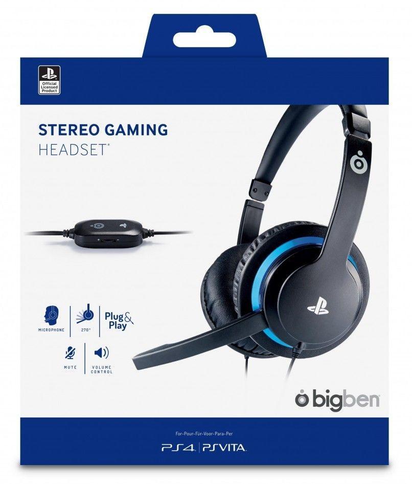 Наушники проводные BigBen Stereo Headset для PS4