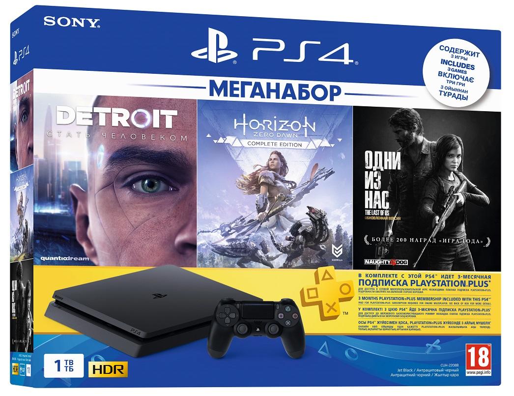 Sony Playstation 4 Slim 1Tb 3 Игры + PS Plus 3 мес. (CUH 2208B)