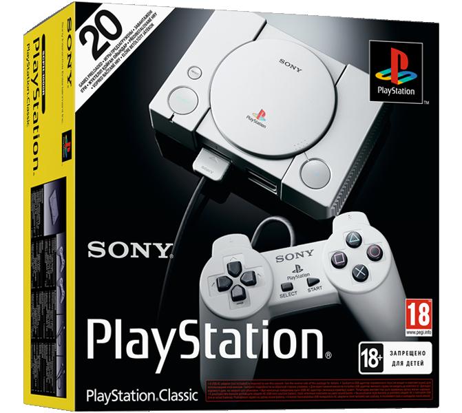 Sony PlayStation Classic + 20 игр