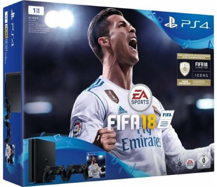 Sony Playstation 4 Slim 1Tb + FIFA 18 + Доп Джойстик