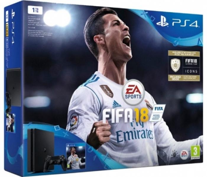 Sony Playstation 4 Slim 1 Tb + игра FIFA 18