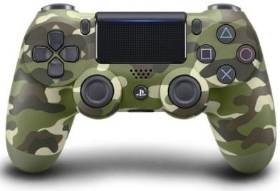 Sony DUALSHOCK 4 (v.2) Зеленый Камуфляж (Официальный)