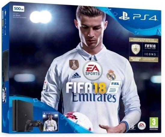 Sony Playstation 4 Slim 500Gb + игра FIFA 18 (CUH-2108A)
