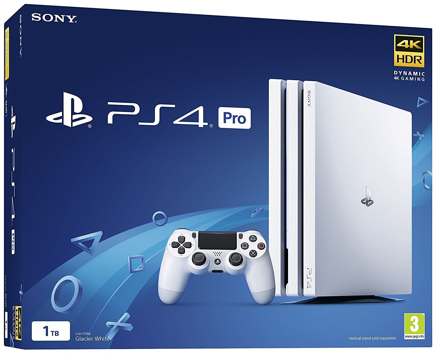 Sony Playstation 4 PRO 1TB White (CUH-7108B)