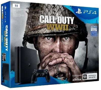 Playstation 4 Slim 1Tb + Call of Duty WWII