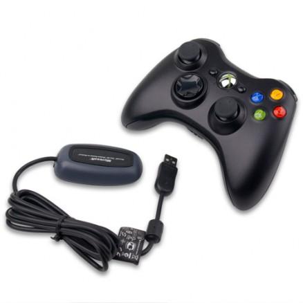 Джойстик Microsoft Xbox 360 Wireless Controller + Ресивер для ПК (Оригинал)