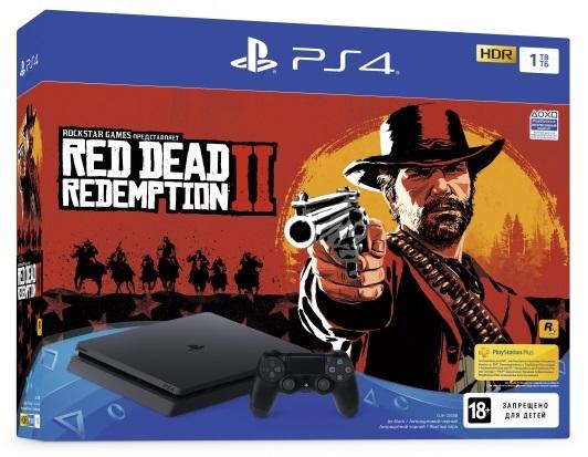 Sony Playstation 4 Slim 1Tb + Red Dead Redemption 2 (Официальная)