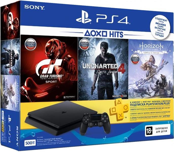 Sony Playstation 4 Slim + 3 Игры + PS Plus 3 мес. (Официальная)