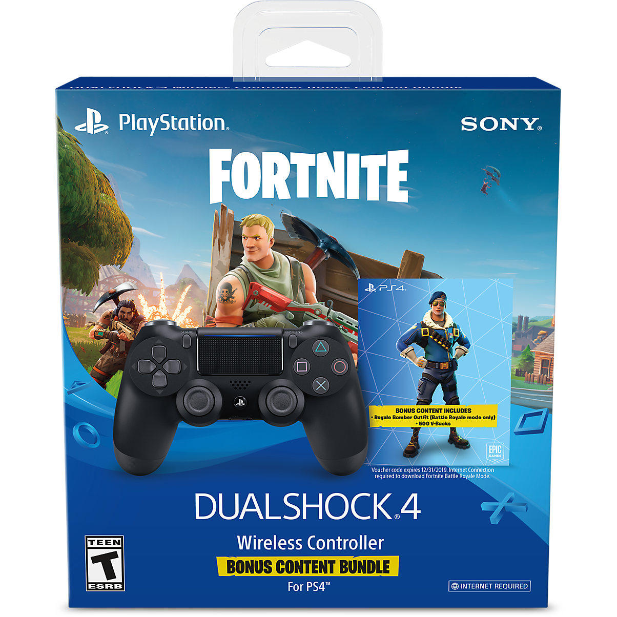 Sony DUALSHOCK 4 (V.2) Black + FORTNITE (Оф.)