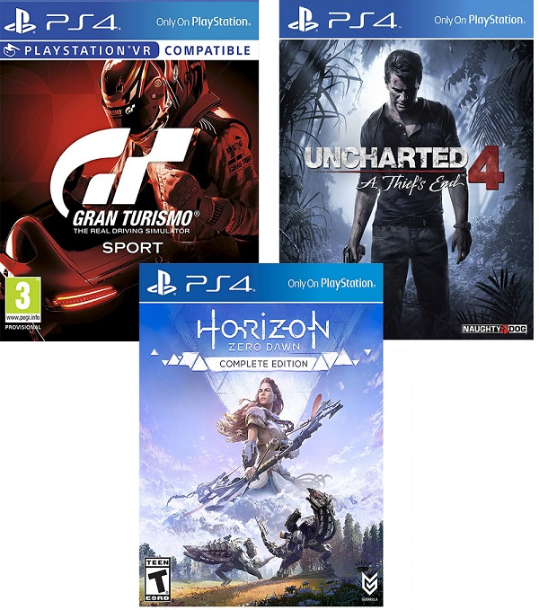 Uncharted 4 + Horizon: Complete + Gran Turismo