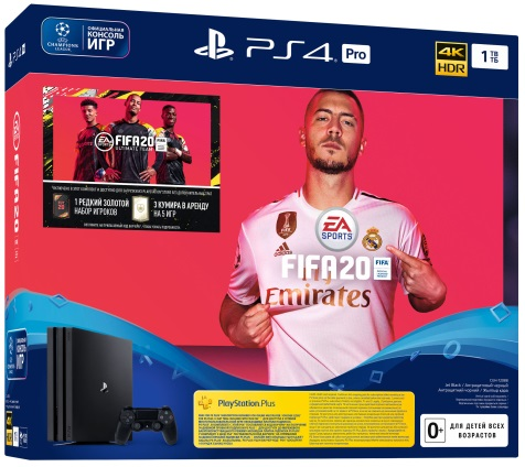 Sony Playstation 4 PRO 1TB Black + FIFA 20 (CUH 7208B)
