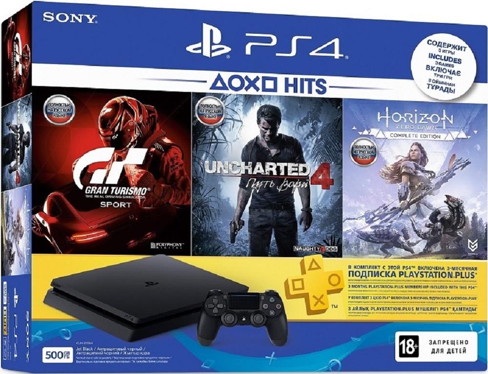 Sony Playstation 4 Slim + 3 Игры + PS Plus 3 мес. (CUH-2108A)