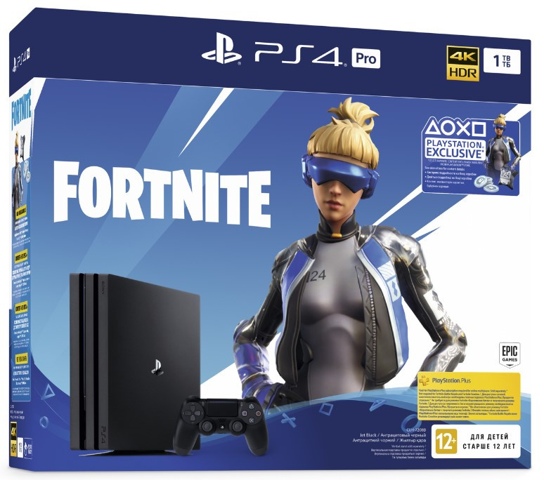 Sony Playstation 4 PRO 1TB Black Fortnite