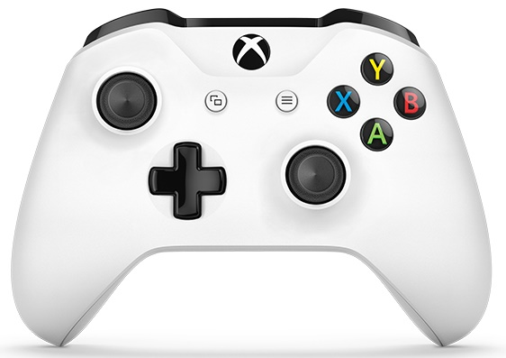 Xbox One S Wireless Controller (White) with Bluetooth