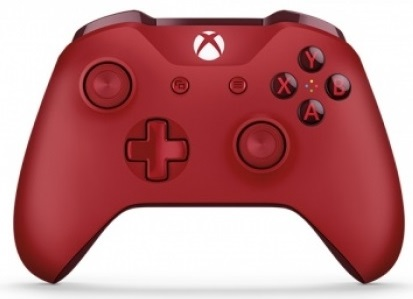 Xbox One S Wireless Controller (Red) with Bluetooth