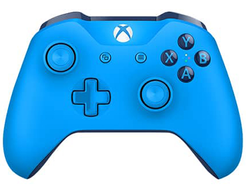 Xbox One S Wireless Controller (Blue) with Bluetooth