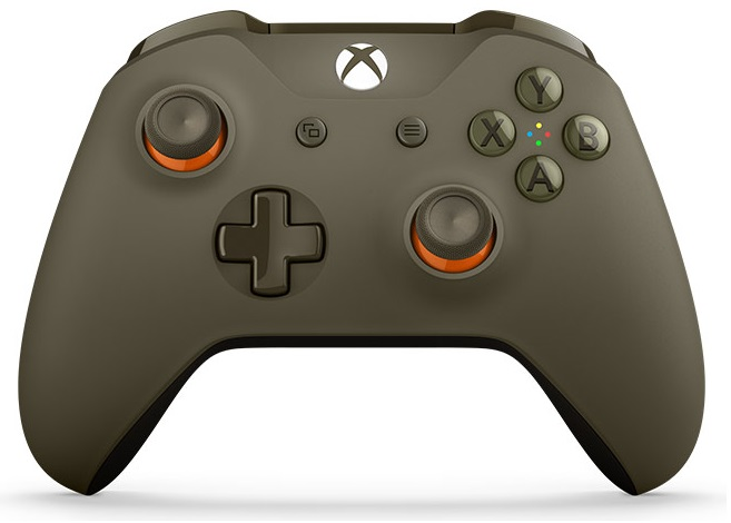 Xbox One S Wireless Controller with Bluetooth (Green/Orange)