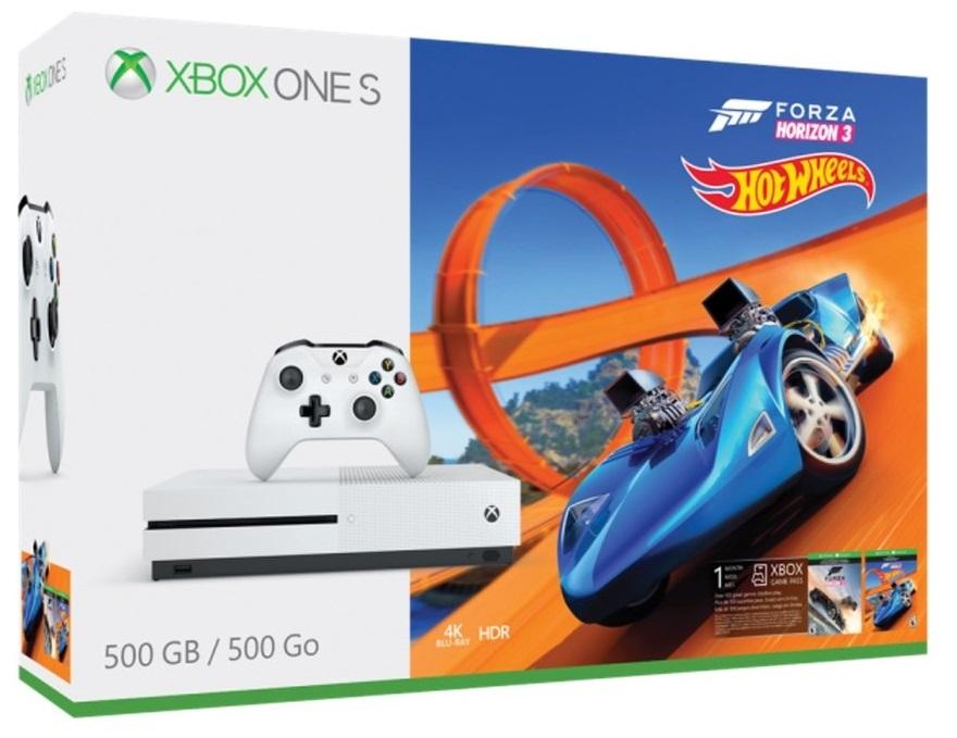 Microsoft Xbox One S 500 Gb + Forza Horizon 3 & Hot Wheels (Bundle)